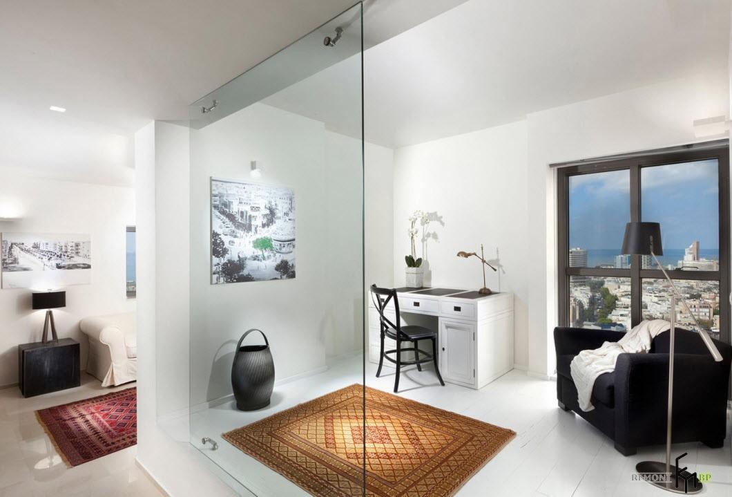 Использование стекла в интерьере квартиры