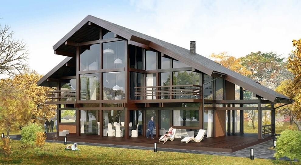 Преимущества стеклянных фасадов в домах